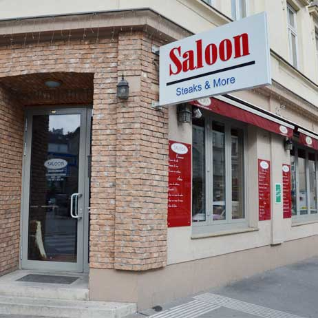 Saloon - steaks and more - Lokal Außenansicht